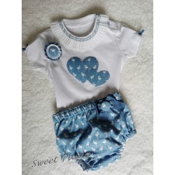Conjunto niño flamencos azules