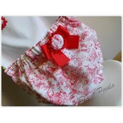 Culotte tela Toile de jouy rojo