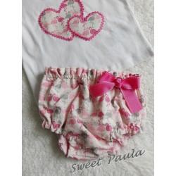 Cubrepañal flamencos rosa