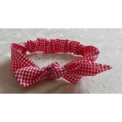 Turbante mujer vichy rojo/blanco