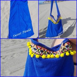 Bolsa toalla etnica azul