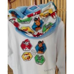 Conjunto camiseta+ cuello  patrulla canina