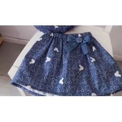 Falda  Mickey azul