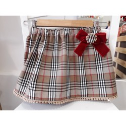 Falda  cuadros  Burberry