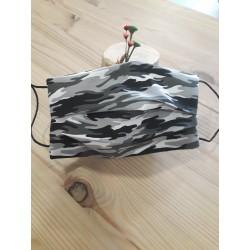 Mascarilla camuflaje negro/gris