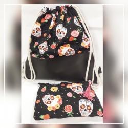 Conjunto mochila + neceser Katrinas colores