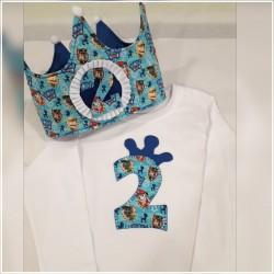 Pack corona y camiseta corona patrulla azul