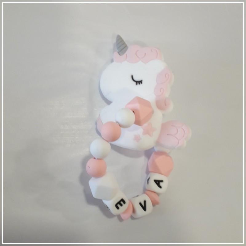 Mordedor silicona unicornio rosa