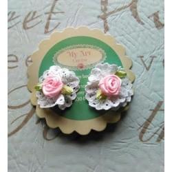 Ranita flor blanca y rosa