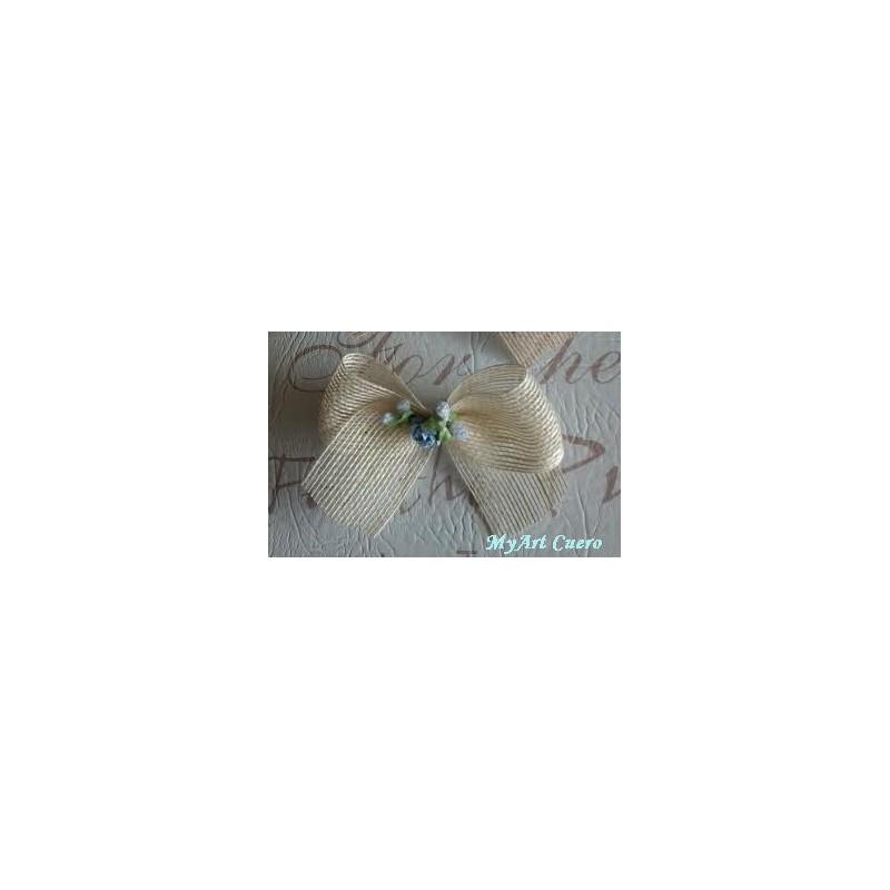Lazo saco flor azul