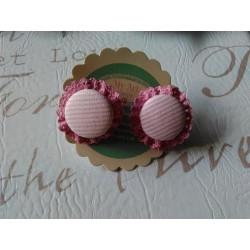 Coletero boton rayas rosa